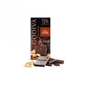 Almonds 72% Dark Chocolate Tablet