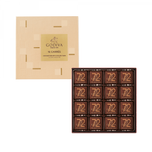 72% Dark Chocolate Carré Collection 16pcs