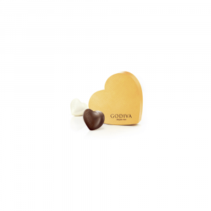 Gold Heart Gift Box 2pcs