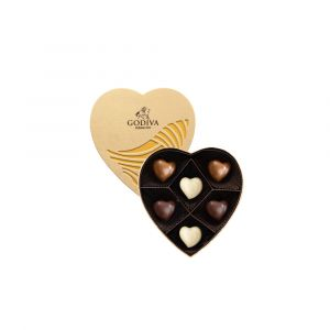 Chocolate Gold Heart Collection 6pcs