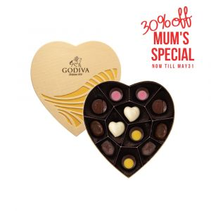 Chocolate Gold Heart Collection 12pcs